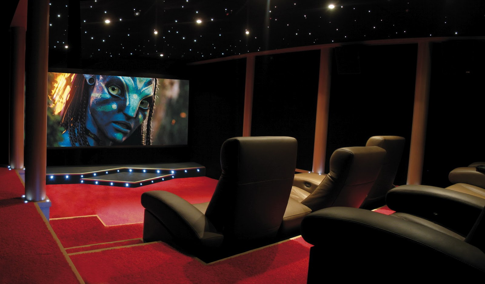 salle home cinema 7 2 emotions audiovisuelles. Black Bedroom Furniture Sets. Home Design Ideas